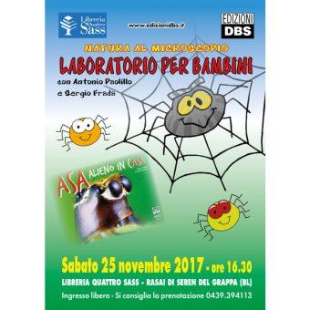 Laboratorio per bambini sui ragni
